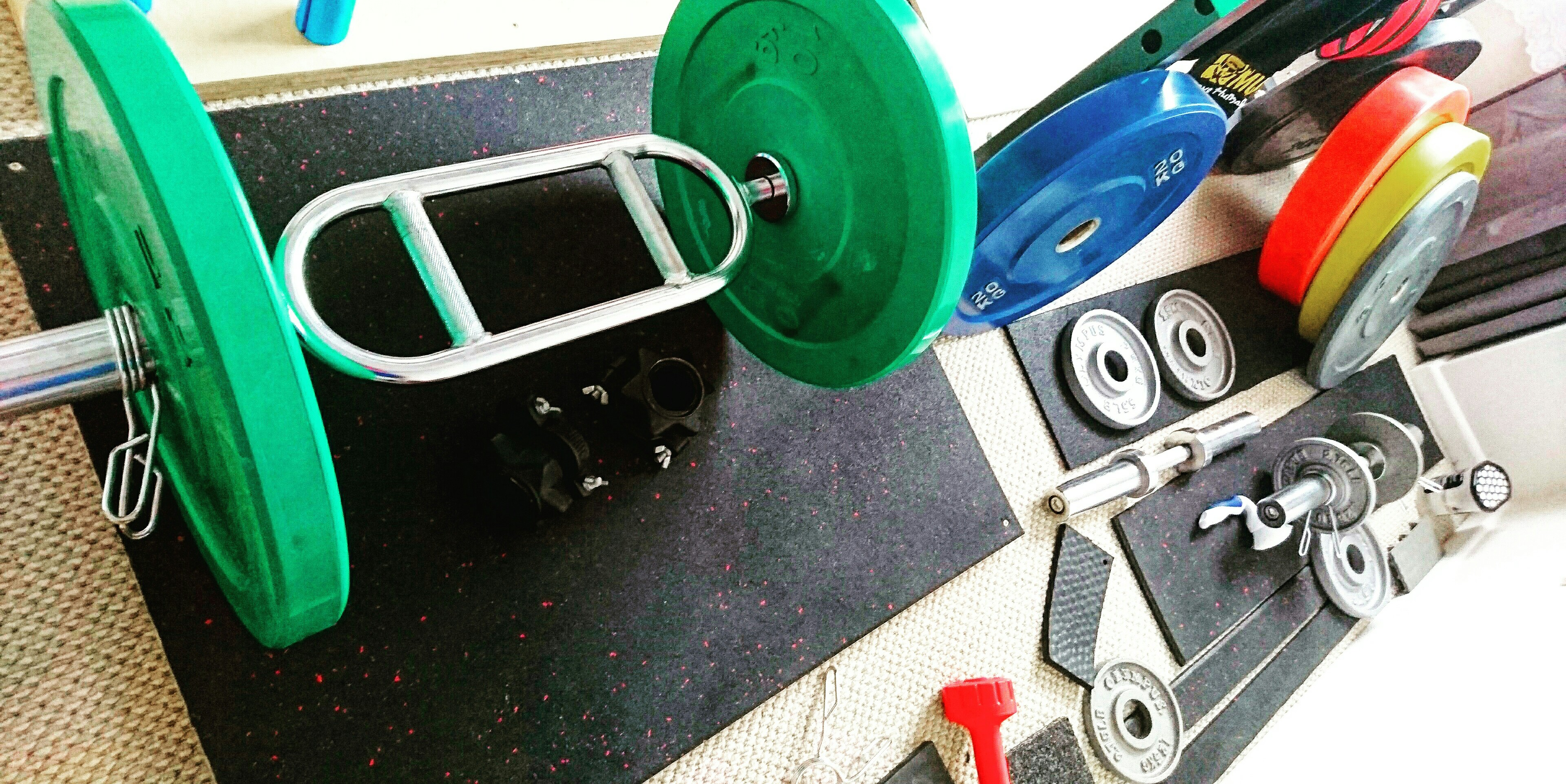 Home gym for sale power cage rack bumpers bench etc